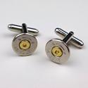 .45 Colt Nickel Bullet Cuff Links