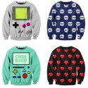 Even Non-Gamers Would Approve: Video Game Pixelated Sweatshirts