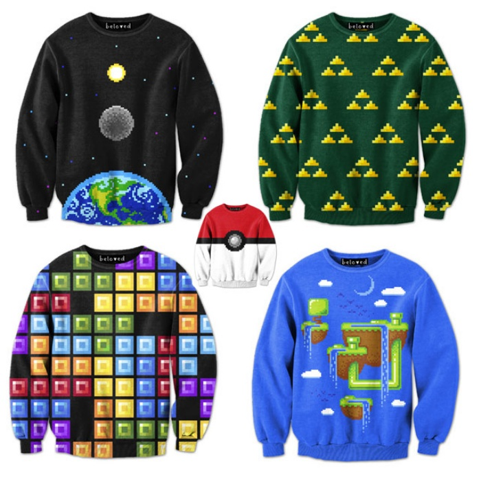 Video Game Sweatshirts1