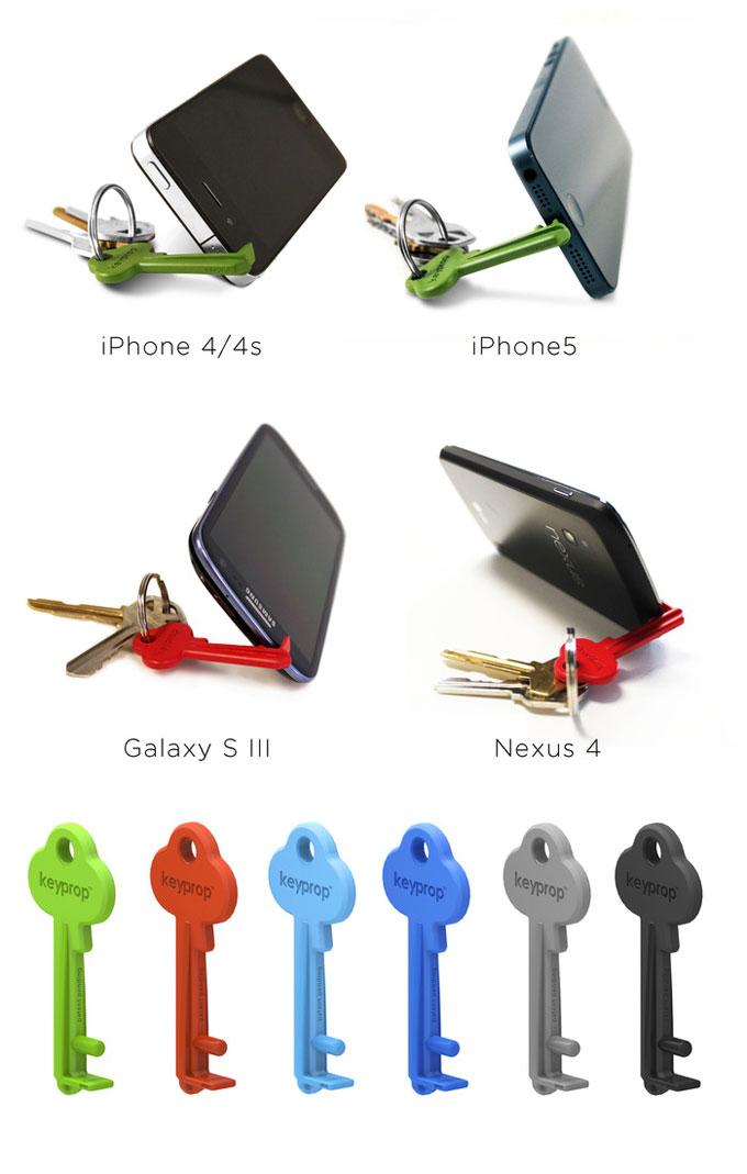 Keyprop-a-key-sized-smartphone-stand