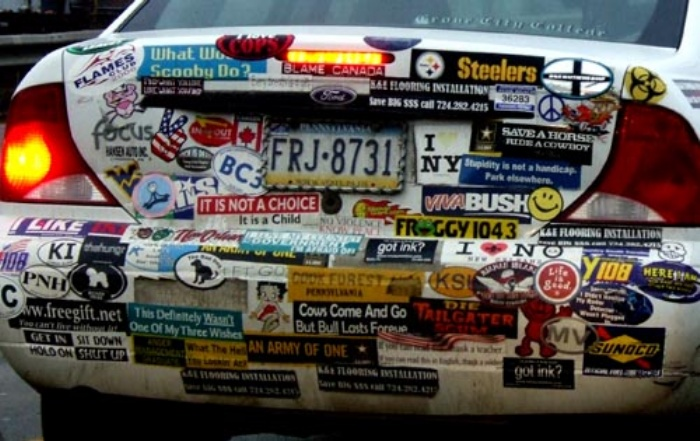 Cars Bumper Stickers