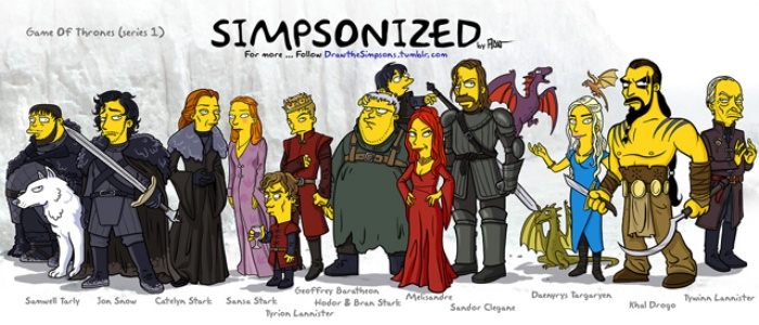 Game of Thrones Simpsons Art