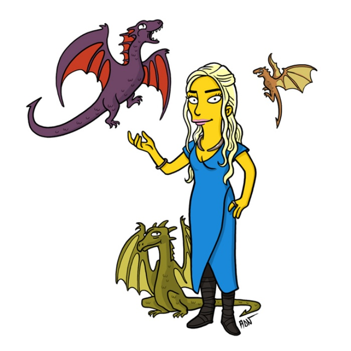 Game of Thrones Simpsons Art1