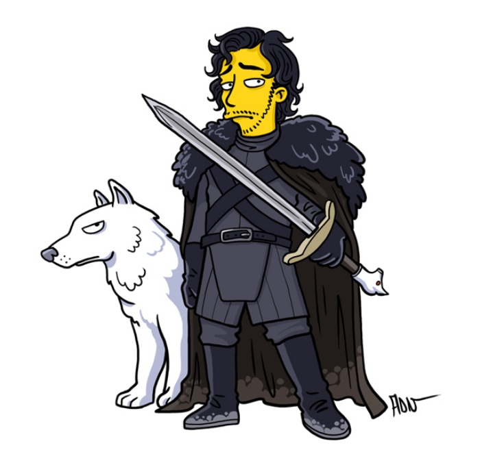 Game of Thrones Simpsons Art3