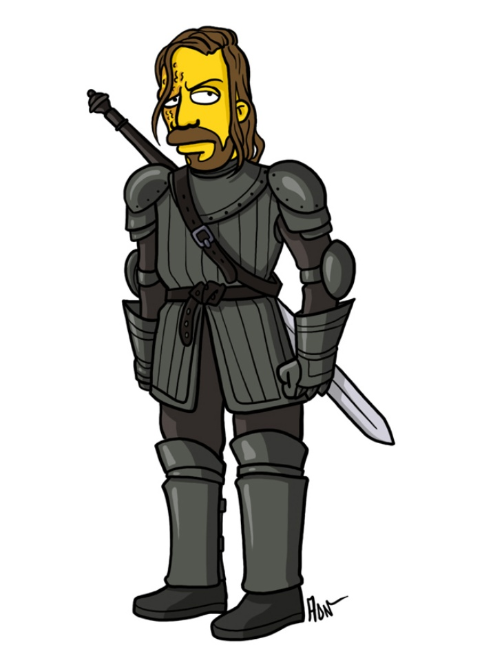 Game of Thrones Simpsons Art4
