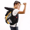 Backpack Features Kevlar Hood To Protect You From… Bomb Debris?