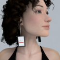High Tech Bling: Video Earrings with 2.2-Inch Screens