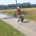 Wheelbarrow with Internal Combustion Engine: Can Your Wheelbarrow Go Faster Than This?
