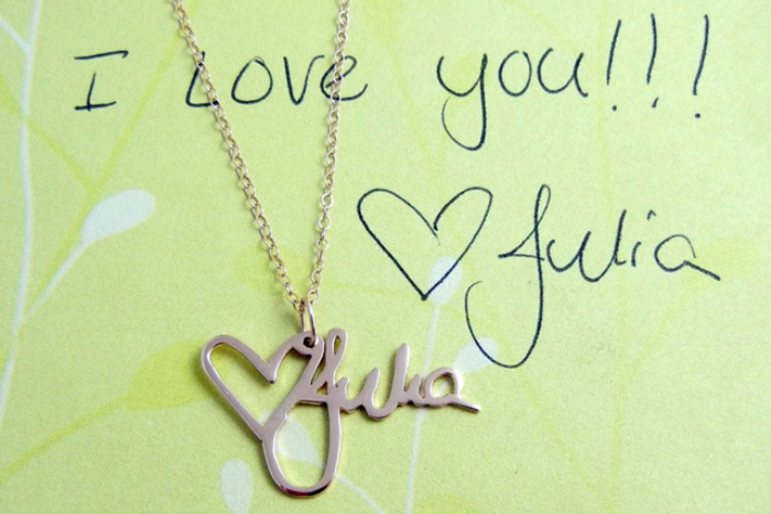 Custom Handwriting Necklace1