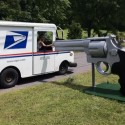 I Shot the Mailman: Check Out This Giant .44 Magnum Mailbox