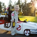 Meet Cooper, the Little Ghostbuster with the Ecto-1 Push Car