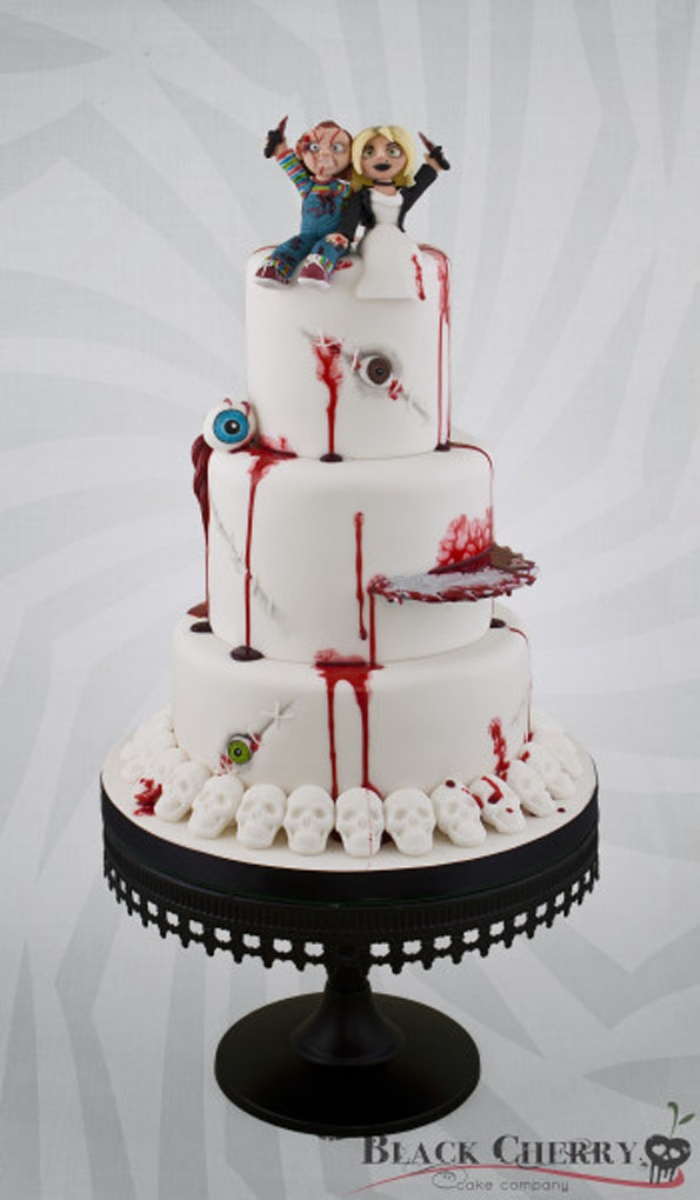 Til Death Do Us Part: Bride of Chucky Wedding Cake | OhGizmo!