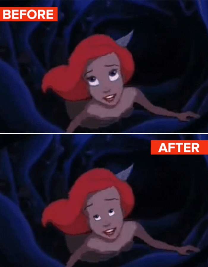 Disney Princesses with Regular Eyes