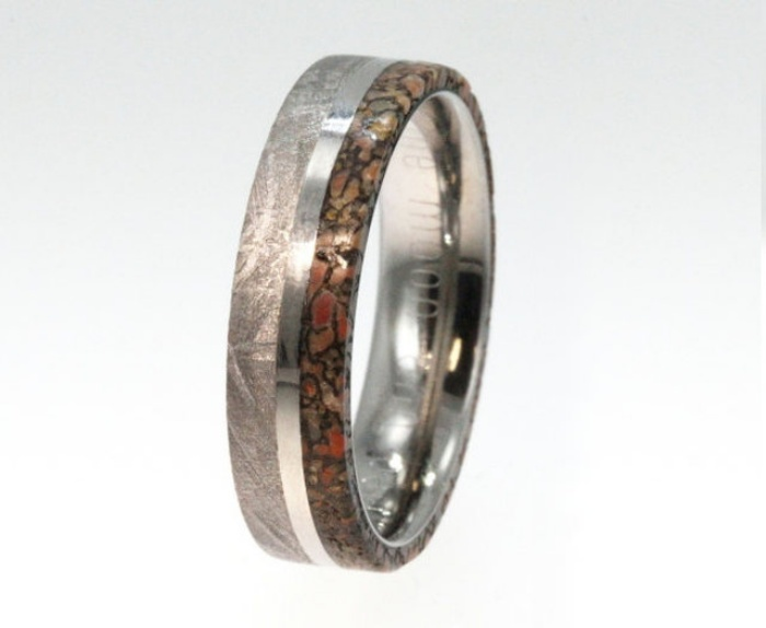 Dinosaur Bone Wedding Ring