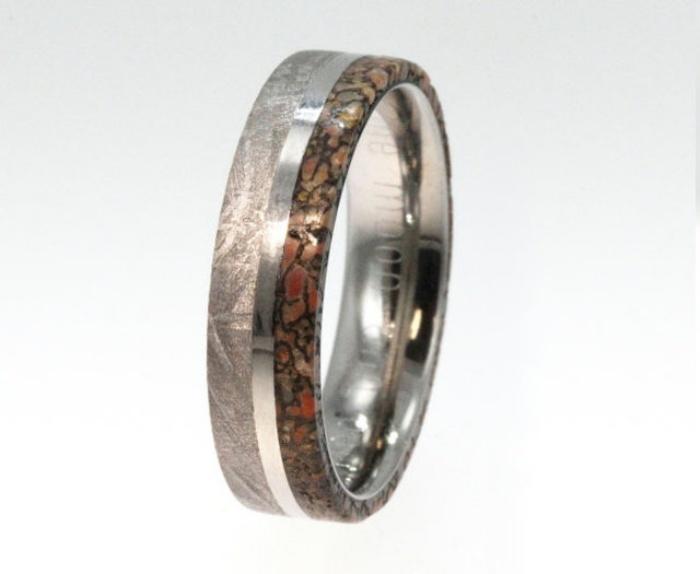 Dinosaur Bone Wedding Ring