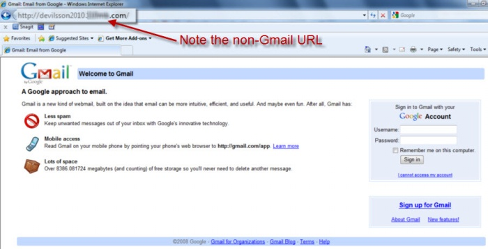 Fake Gmail