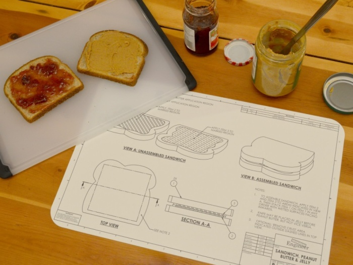 Food Blue Print Place Mats