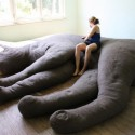 This Giant Cat Couch is For Both Cats and Humans