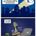 Facebook Activism Meets Batman Superhero-ism