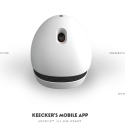 Keecker Is A Remote Controlled Projector And Webcam On Wheels