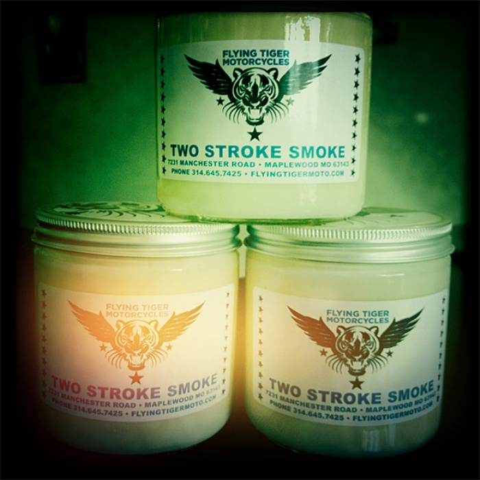 Two Stroke Smoke Candle