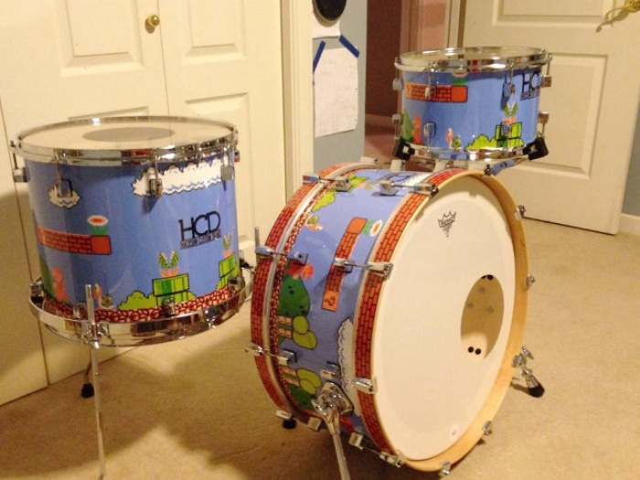 Super Mario Drum Set