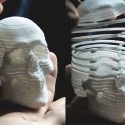 Mortal Coil 3D Printed Slinky Skull Is Cool