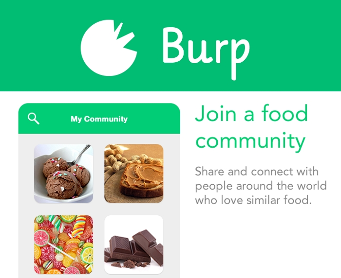Burp Food Community App