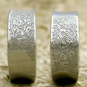 Now That's One-of-a-Kind: Fingerprint Wedding Rings