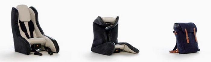 Inflatable Car Seat by Volvo