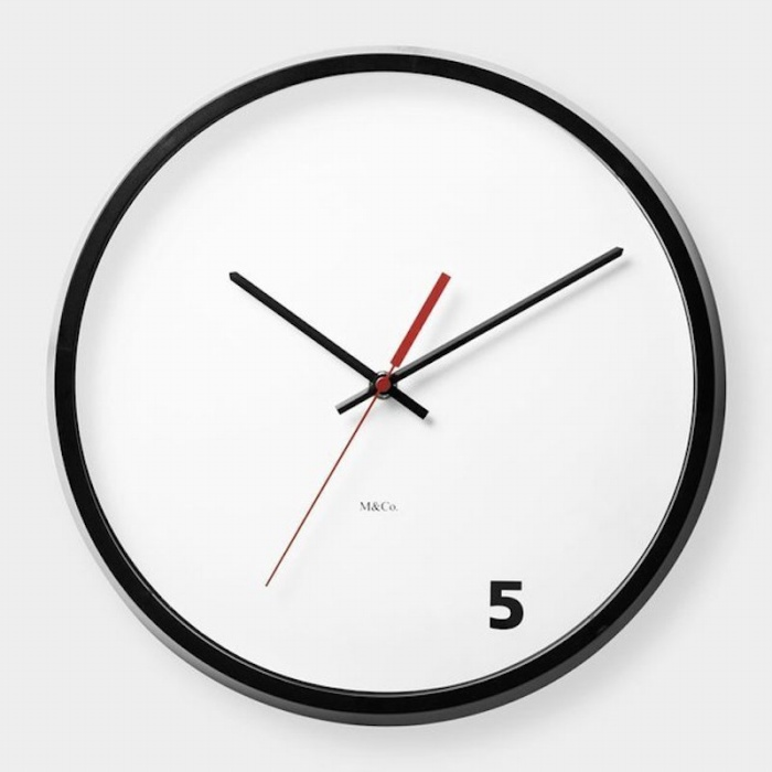 5 Oclock Wall Clock