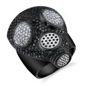 For Lethal Couplings: Gas Mask Diamond Ring