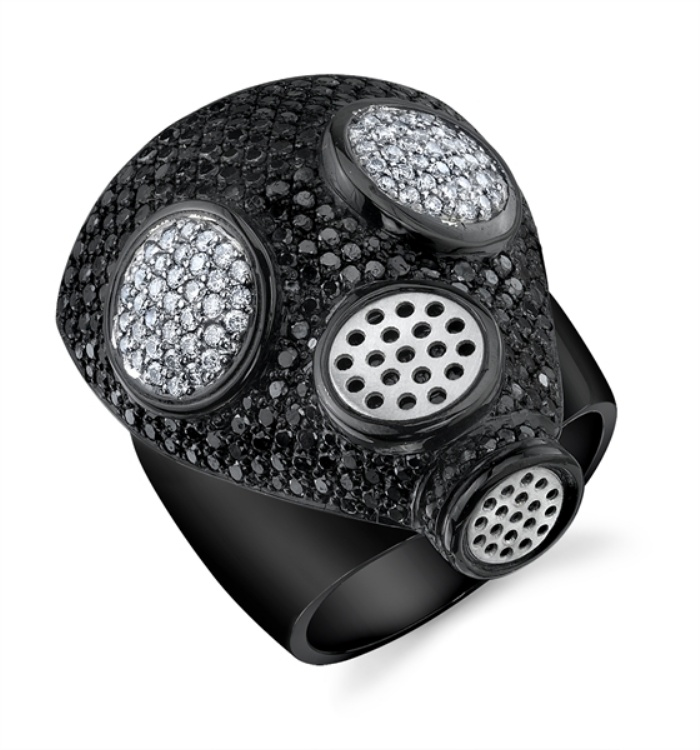 Gas Mask Diamond Ring