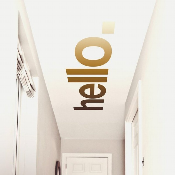 Hello Hallway Ceiling Sticker
