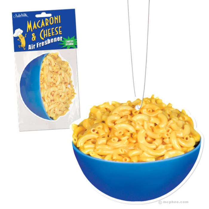 Smells Like Comfort: Mac And Cheese Air Freshner | OhGizmo!