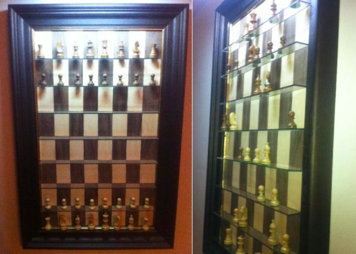 Wall-mounted computerized chess board