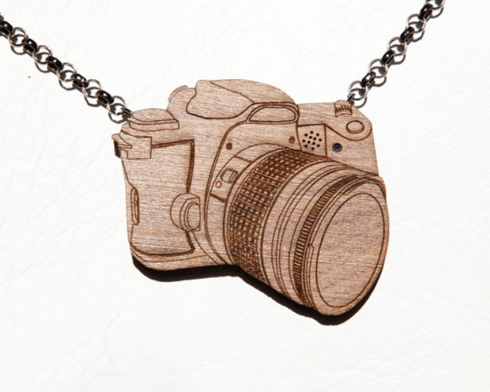 Wooden Camera Necklace