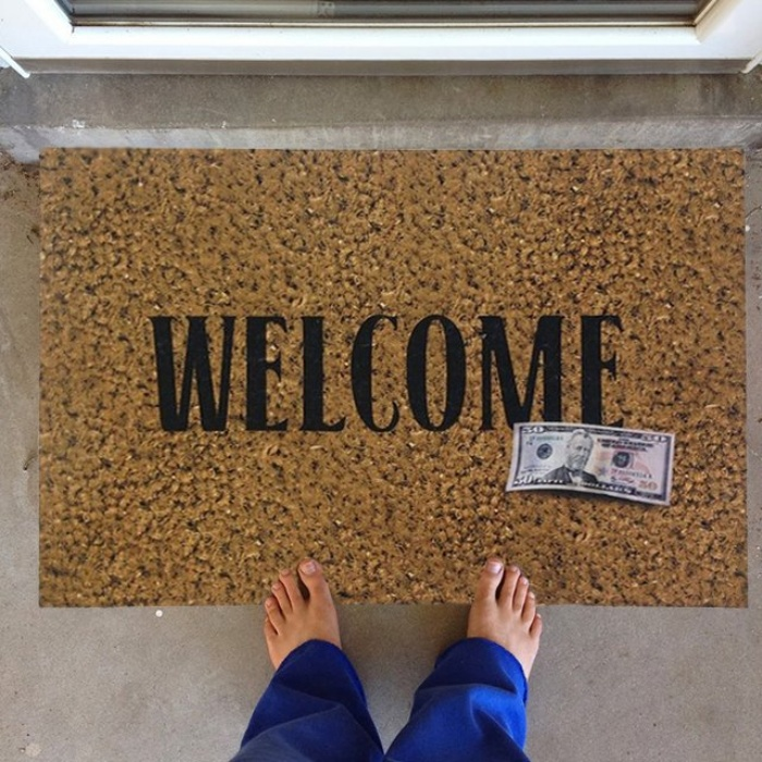 50 Dollar Door Mat