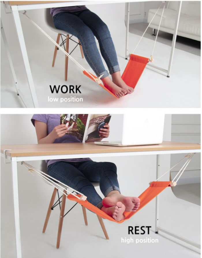 Incredible Fuut Desk Foot Rest Is A Hammock For Your Feet Ohgizmo Alphanode Cool Chair Designs And Ideas Alphanodeonline
