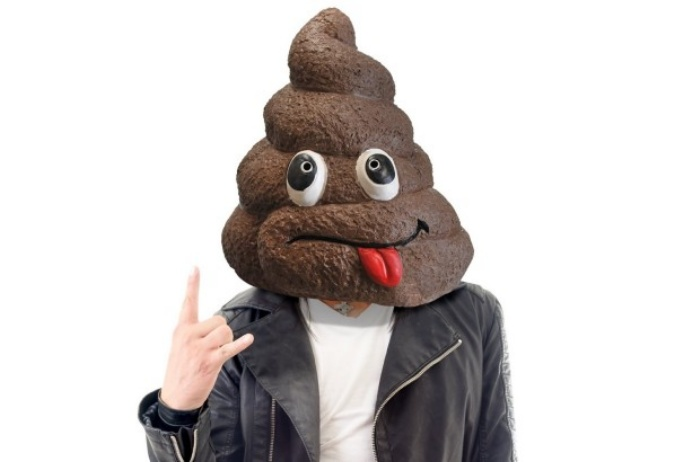 Pile of Poop Emoji Mask