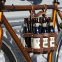 Leather Beer Caddy For Bikes
