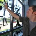 Eraseable Glass Art: Spray Paint Dry Erase Marker