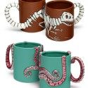 Roarin' Cup of Joe: T-Rex Fossil and Octopus Coffee Mugs