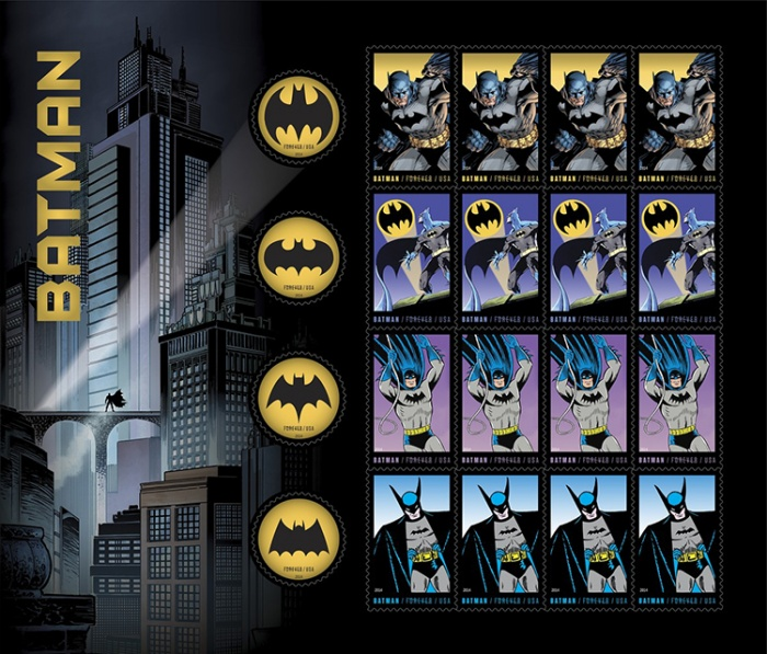 Batman Postage Stamps