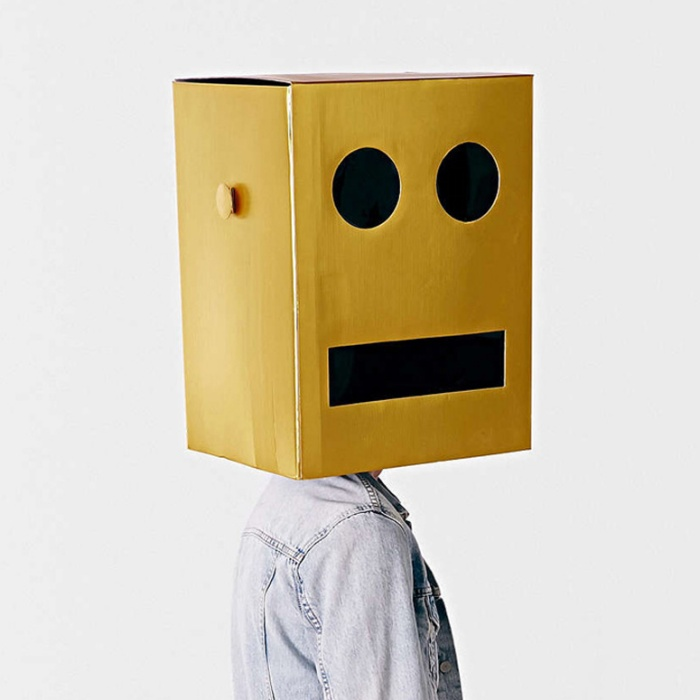 Giant Robot Block Head Costume