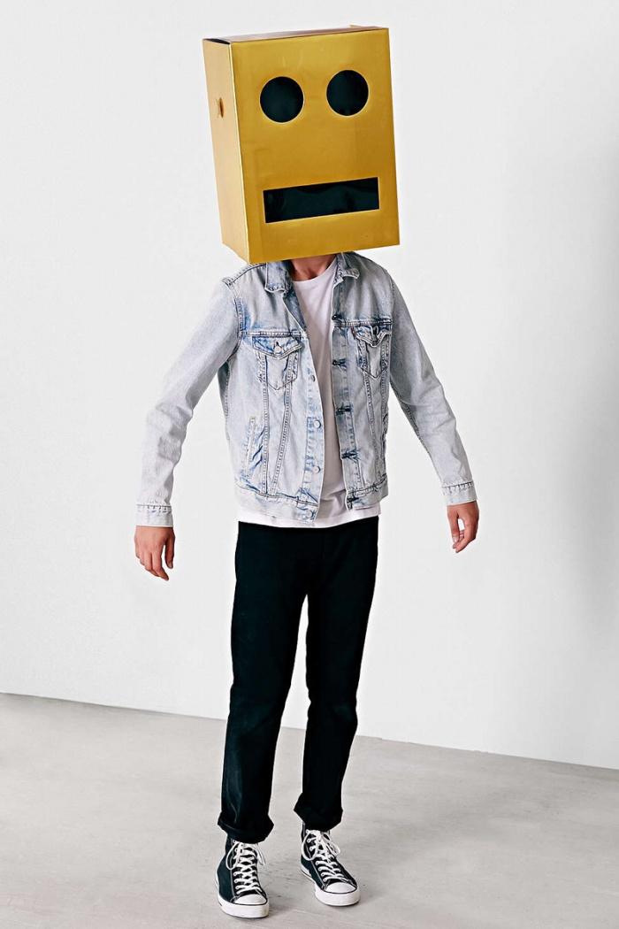 Giant Robot Block Head Costume1