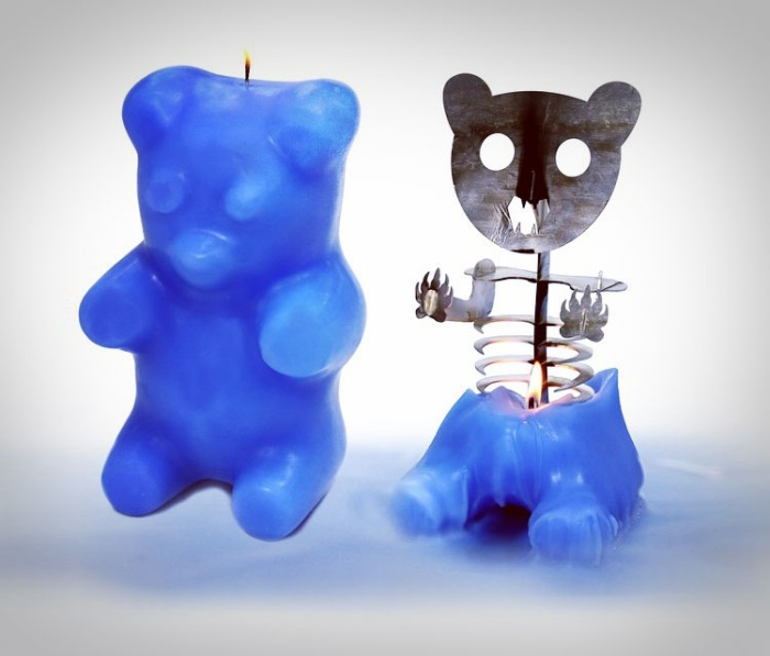 Gummy Bear Skeleton Candles