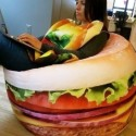 Hamburger Beanbag Looks Good Enough To Eat