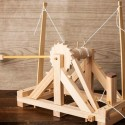 Launching Spitballs In 3, 2, 1: Leonardo da Vinci Catapult Kit