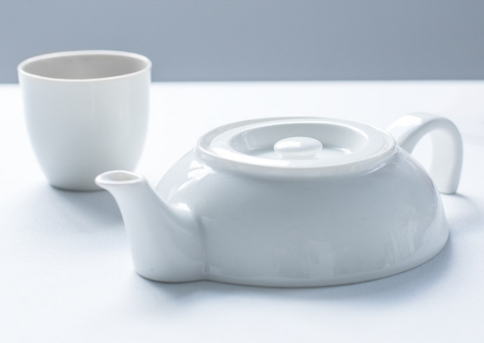 Tea For One - Ceramic Half Teapot